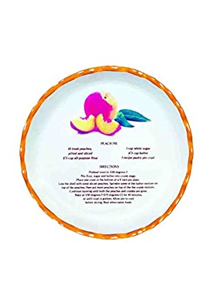 Aunt Beth's Cookie Keepers Peach Pie Plate