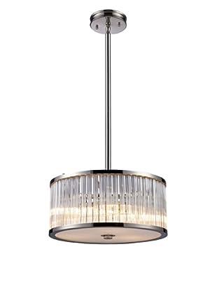 Artistic Lighting Braxton 3-Light Pendant, Polished Nickel