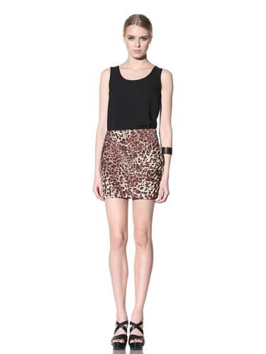 Torn by Ronny Kobo Women's Pleated Skirt (Cheetah)