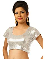 Georgette Sequined Padded Blouse