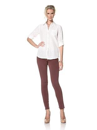 Trovata Women's Amalie Button Front Shirt (Antique White Lace)
