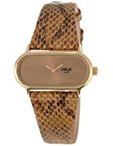 Helix Plaza Analog Brown Dial Women's Watch - 04HL03