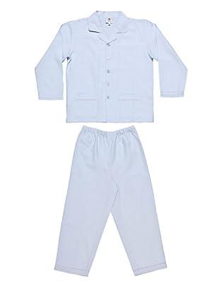 Allegrino Pigiama 100% Cotone Robert Oxford Boy (Azzurro)