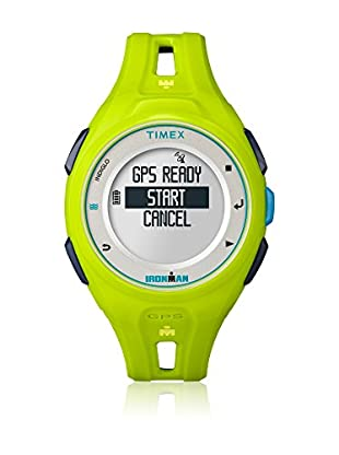 TIMEX Reloj de cuarzo Man Ironman Run X20 GPS Verde 43 mm