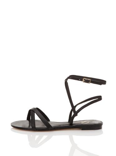 Delman Women's Syera Strappy Sandal (Black Vach)