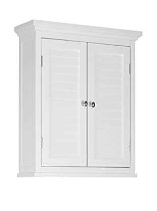 Elegant Home Fashions Slone Double Shutter Door Wall Cabinet, White