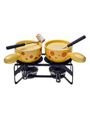 Nouvel Käsefondue-Set Duo Formaggio 11-teilig gelb/schwarz