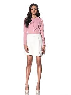 Chloé Women's Mini Skirt with Pleat Detail (Chalk)