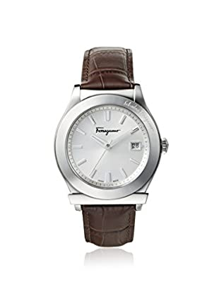 Salvatore Ferragamo Men's FF3970014 1898 Brown/Silver Leather Watch