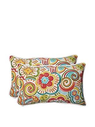 Pillow Perfect Set of 2 Indoor/Outdoor Bronwood Carnival Lumbar Pillows, Multi