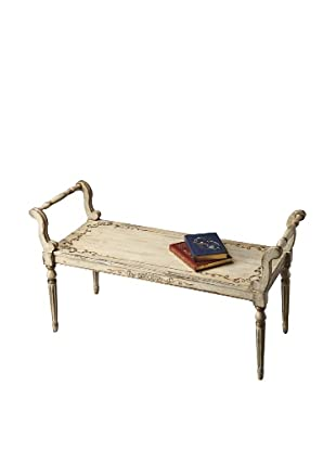 Butler Specialty Company Bench, Guilded Cream