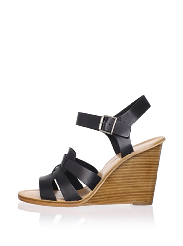 Pour La Victoire Women's Ivania Wedge Sandal (Black)