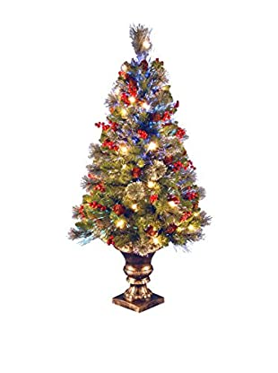National Tree Company 4' Fiber Optic Crestwood Spruce Tree with Cones