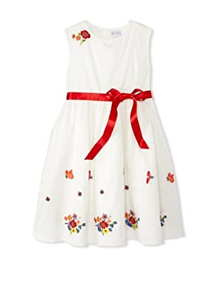 Rachel Riley Girl's Floral Embroidered Dress