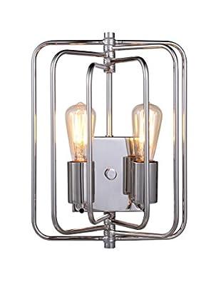 Urban Lights Lewis 2-Light Wall Lamp, Polished Nickel