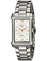 GV2 by Gevril Womens 8400 Principessa Silver-Tone Stainless Steel Watch