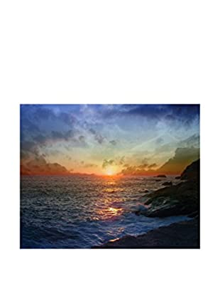 Legendarte Leinwandbild Tramonto Sull'Oceano