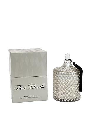 D.L. & Co. Diamond Glass 14-Oz. Jar Candle, Fleur Blanche