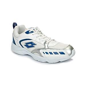 Lotto Thunder Men's White & Blue Running Shoes - AR0944