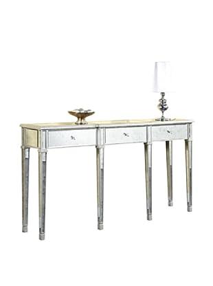 Florentine 3-Drawer Table, Silver Leaf/Antique Mirror
