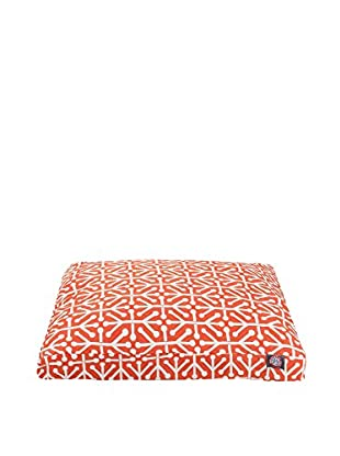 Aruba Small Rectangle Pet Bed, Orange