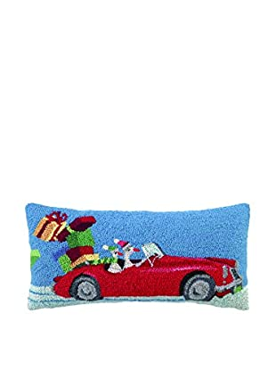 Peking Handicraft Hot Rod Christmas Geese Lumbar Pillow, Multi