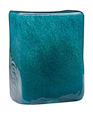 Dynasty Gallery Glass Flat Square Vase, Teal