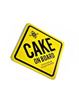 Innovative Sugarworks Cake on Board Car Magnet, Yellow