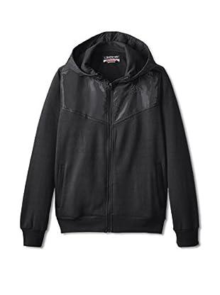 Kappa Men's Nylon Rip Stop Detail Fleece Jacket