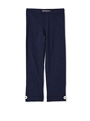 Upper School Girl's Legging with Buttons (Navy)