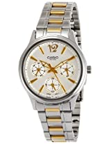 Casio Enticer White Dial Women's Watch - LTP-2085SG-7AVDF (A847)
