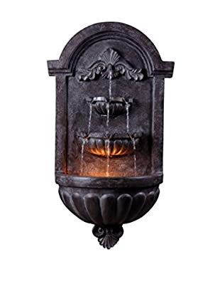 Design Craft Trinity Wall Fountain, Plum Bronze Finish