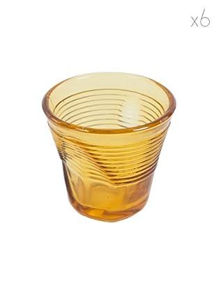 Kaleidos Set 6 Bicchieri Accartocciati 115 ml (Ambra)