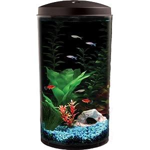 API Aquaview 360 Aquarium Kit with LED Lighting and Internal Power Filter, 6-Gallon