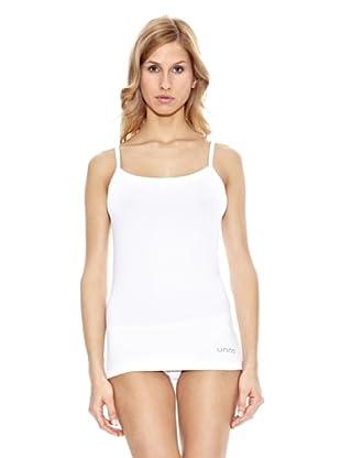 Unno Camiseta Tirante de Algodón (Blanco)