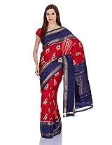IndusDiva Ikat Silk Cotton Handloom Saree