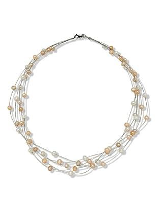 Valero Pearls 400340 - Collar de mujer de plata con perla cultivada de agua dulce, 43 cm