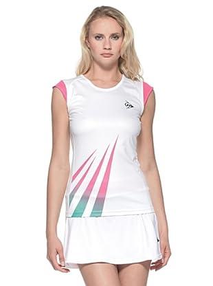 Dunlop Abbigliamento Ladies - Micro Sleeve (Bianco/Rosa)
