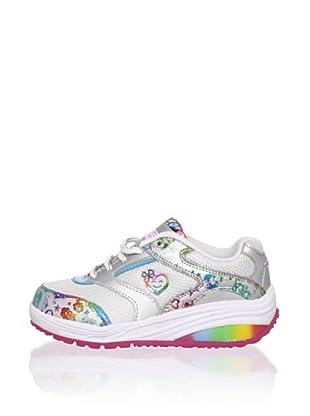 Stride Rite Kid's Kids' Glitzy Pets Sparkle Fashion Sneaker (Toddler/Little Kid) (Silver/Rainbow)