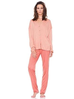 Women secret Pijama Largo Ml Sunny Days (Rosa)