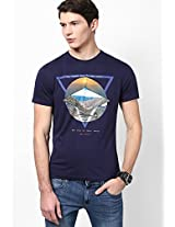 Navy Blue Round Neck T Shirt