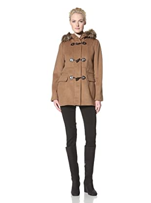 Calvin Klein Women's Wool Coat with Toggle Closure (Vicuna)