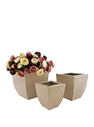 Set 3 Vasi Latta Beige