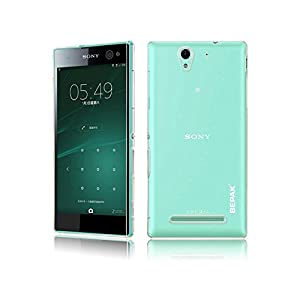 BEPAK Hard PC Crystal Transparent Bumper Back Case Cover For Sony Xperia C3 Dual Sim