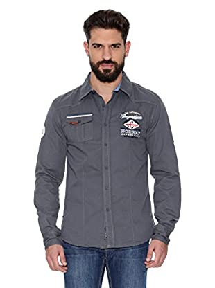 Geographical Norway Camisa Hombre Zactica Men Ls 404 (Gris)