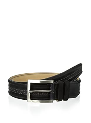 Mezlan Men's Diver Suede Belt (Black/Grey)