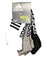 Adidas Flat Knit Low Cut AD435 (White/Grey Mel/Black) Pack of 3