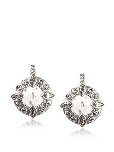 Belargo Women's Byzantine Earrings, Silver