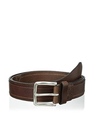 Trafalgar Men's Leather Overlay Belt (Brown)