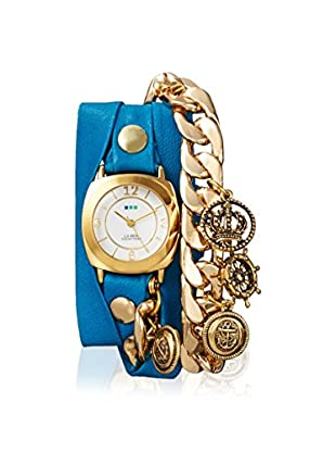 La Mer Collections Women's LMCW7804 Nautical Charm Grecian Blue Leather Watch
